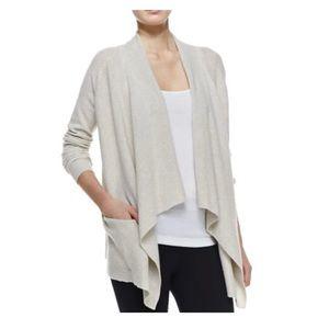 Vince 100% cashmere drape open cardigan